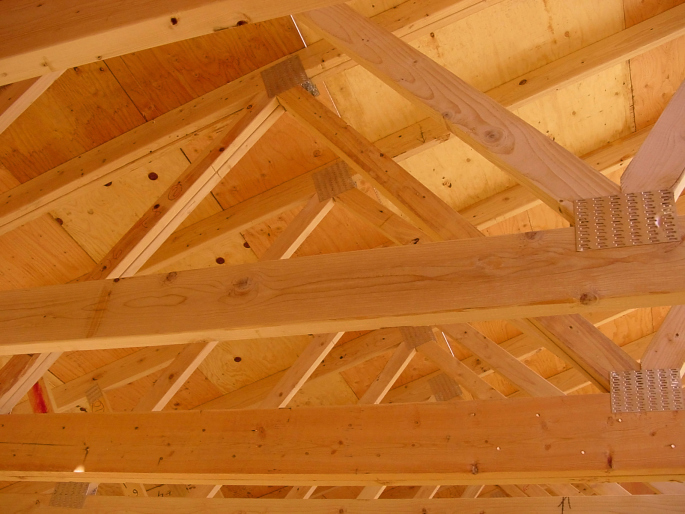 Close up of Ceiling Truss